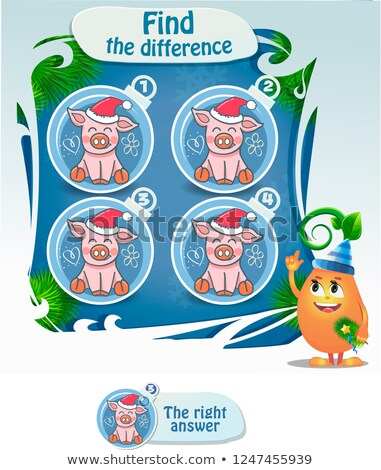Educational children game. Logic game for kids. Find differences Stock photo © anastasiya_popov