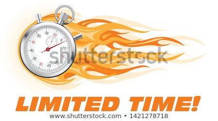 горячей · цен · пламени · знак · Label · текста - Сток-фото © winner