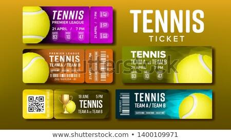 スタイリッシュ デザイン チケット 訪問 テニス セット ストックフォト © pikepicture