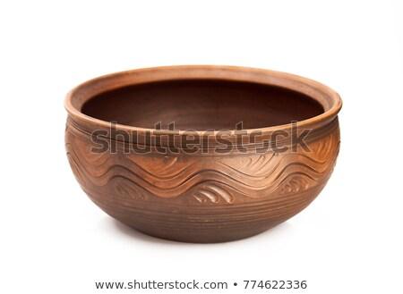 Branco argila tigela para cima cerâmica Foto stock © pressmaster