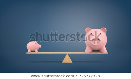 Piggy Bank On Wooden Seesaw Stock photo © AndreyPopov