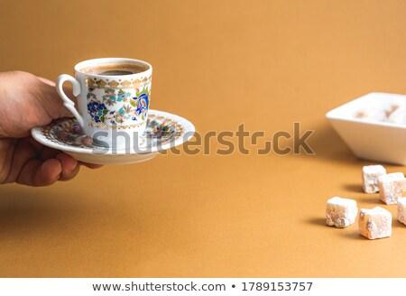 Turco tradicional café metal fundo Foto stock © grafvision