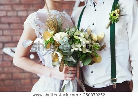 Amoroso multinacional boda Pareja pie personas Foto stock © dariazu
