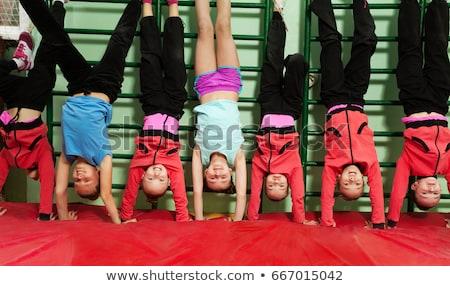 Stock fotó: Boldog · gyerekek · készít · sport · csoport · fiúk