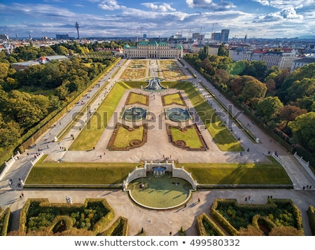 саду · Вена · мнение · дворец · Австрия · небе - Сток-фото © borisb17