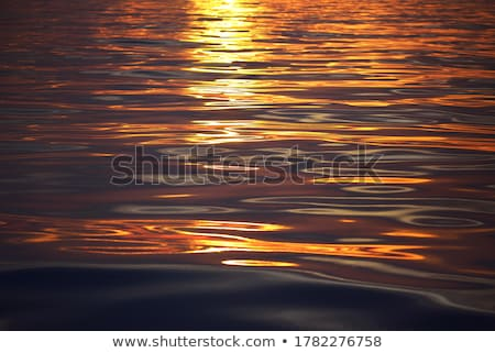 Seascape with sunlight reflection and calm waves Stock photo © vapi