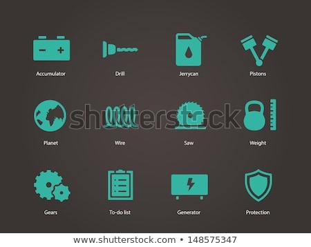 botella · agua · simple · icono · aislado · blanco - foto stock © smoki