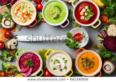 лука · кремом · суп · петрушка · Кука - Сток-фото © fanfo
