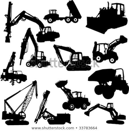 建設 ドリル フォークリフト ベクトル マシン ストックフォト © robuart