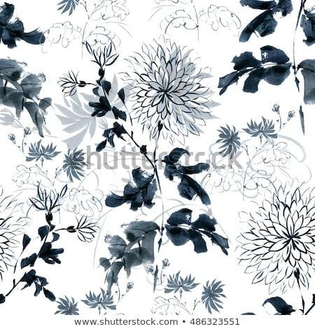 Projeto flores floral elementos Foto stock © BlueLela