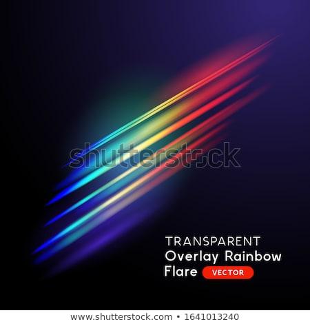 Optik gökkuşağı etki ışık sızıntı Stok fotoğraf © solarseven
