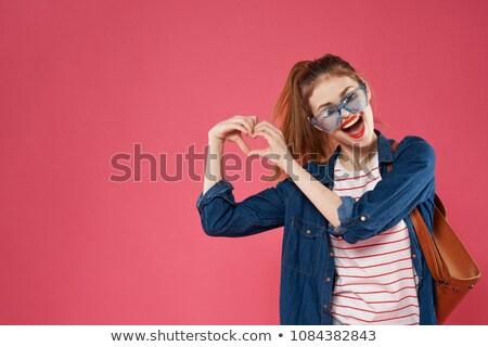 Estudiante nina tomados de las manos corazón escuela educación Foto stock © dolgachov