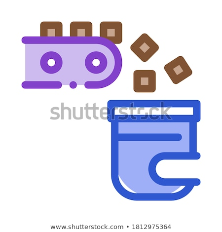 Factory Rolling Production Metallurgical Icon Vector Illustration Stock photo © pikepicture