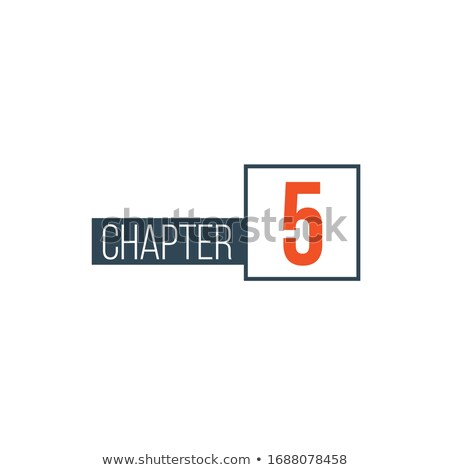 Chapter 5design template, can be used for books design or tabs. Stock Vector illustration isolated o Stock photo © kyryloff