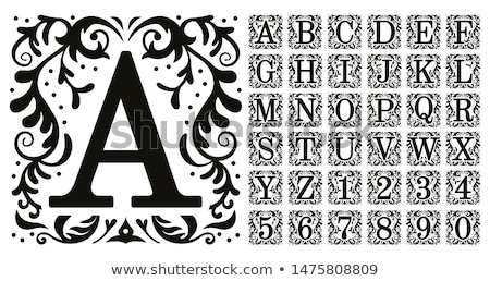 Capital letter A  Stock photo © grafvision