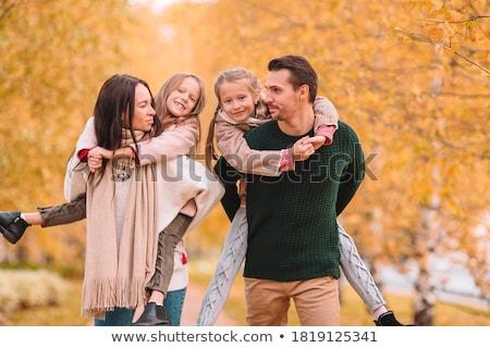 Piccolo adorabile ragazza felice padre autunno Foto d'archivio © Lopolo