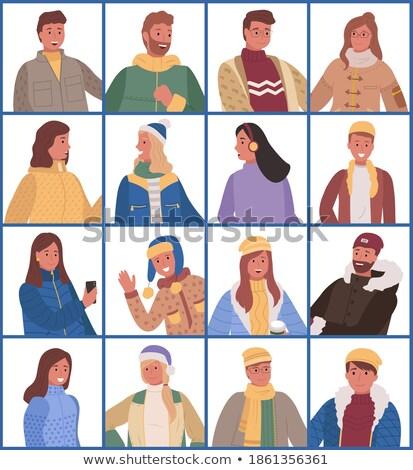 Człowiek stwarzające ciepły ubrania sweter stałego Zdjęcia stock © robuart