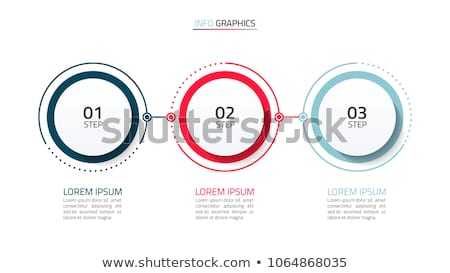 Modernen drei Schritte Timeline Vorlage Stock foto © SArts