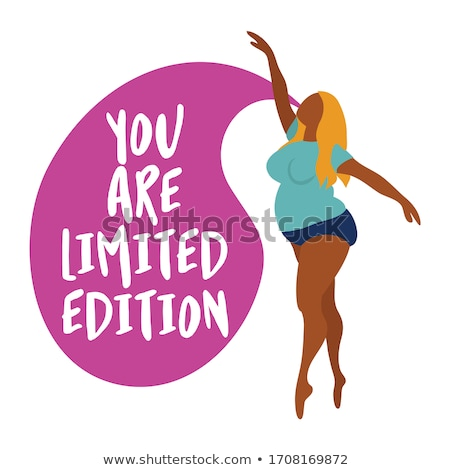 You are limited edition - Happy plus size girl  Stock photo © Zsuskaa