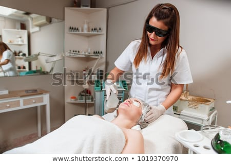 Protective glasses on laser epilation equipment Stock photo © olira