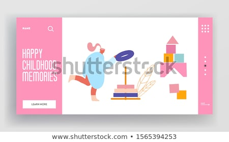 Child overweight concept landing page. Stock photo © RAStudio