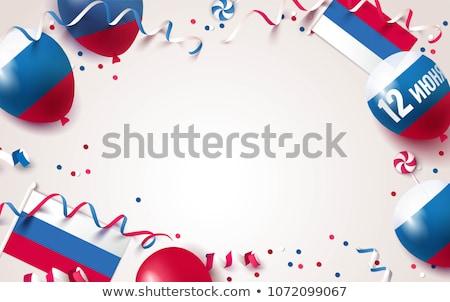 Rusland dag viering vlaggen decoratie ontwerp Stockfoto © SArts