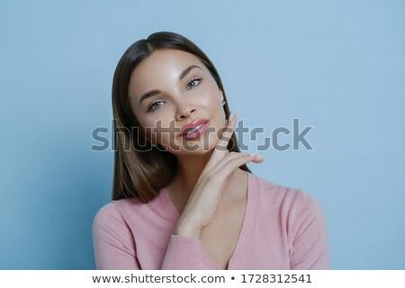 Mooie donkere vrouw make gezonde Stockfoto © vkstudio