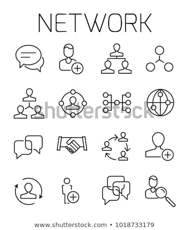 Verbieden teken vector dun lijn icon Stockfoto © smoki