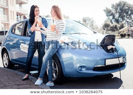 Elektrische auto bestuurder auto nieuwe vervoer eco Stockfoto © jossdiim