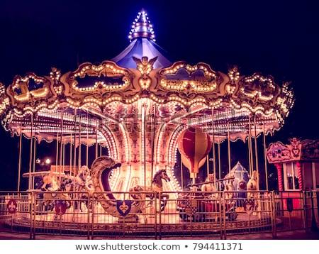 回転木馬 1泊 光 速度 公園 カーニバル ストックフォト © Paha_L