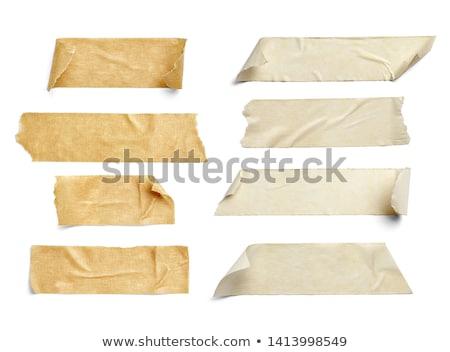 ストックフォト: テープ · 手 · 孤立した · 白 · オフィス