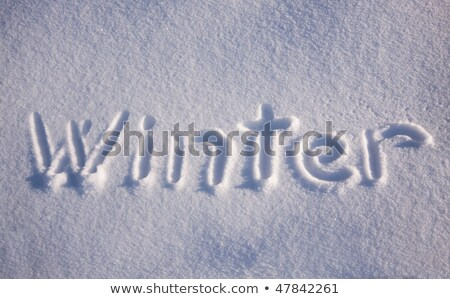 Chill written in snow. Stock photo © latent