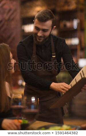 dessert · cafetaria · kantine · desserts · mensen - stockfoto © photography33