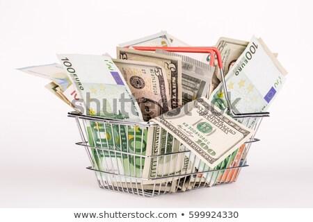 Dolar · koszyka · działalności · zielone · biały · pieniężnych - zdjęcia stock © Paha_L
