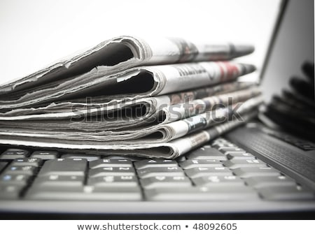 periódico · blanco · noticias - foto stock © devon