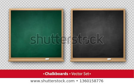 square green chalkboard with white frame Stock photo © nuiiko