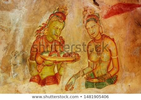 Foto stock: Famoso · antigo · parede · pinturas · Sri · Lanka · nu