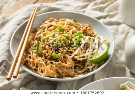 pad thai dinner with chicken stock photo © rcarner