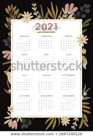 calendar icons for all monthes of the year Stock photo © experimental