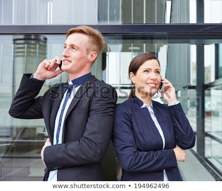 Two businessmen making telephone calls Stock photo © photography33