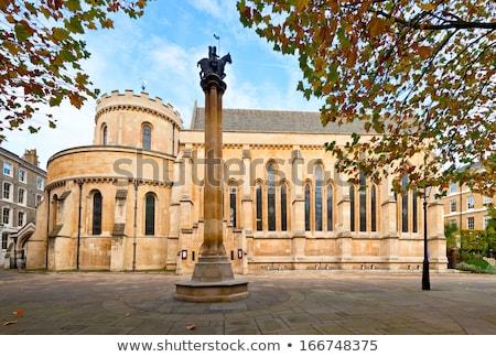 Tapınak kilise detay Londra duvar dua Stok fotoğraf © zittto