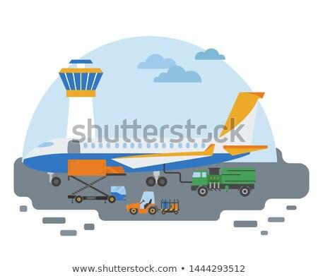 Companhias aéreas terreno serviços pista espera serviço Foto stock © ozgur