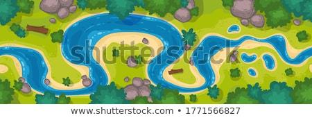 The coastline of the river Stock photo © vavlt