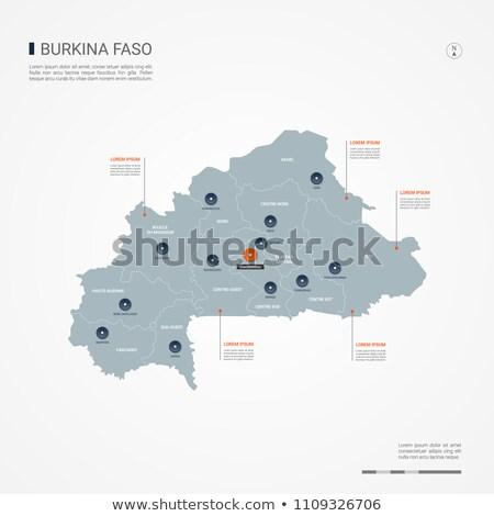 Button Burkina Faso Stock photo © Ustofre9