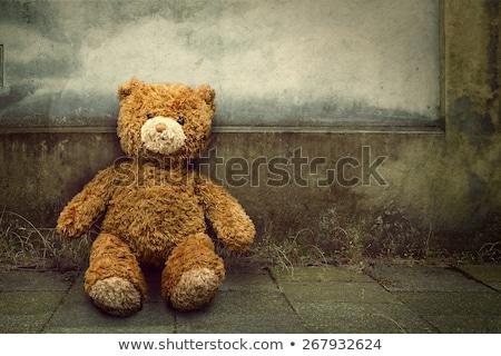 Eski evsiz oyuncak yalıtılmış beyaz adam Stok fotoğraf © jonnysek