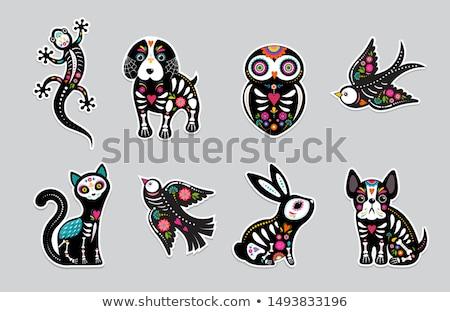 Halloween Owl Sticker Stock photo © cteconsulting