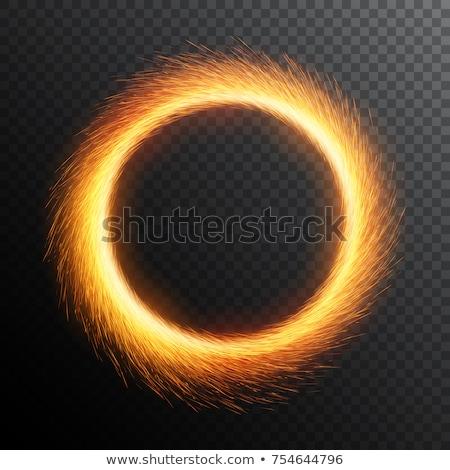 csillagszóró · gyűrű · textúra · narancs · fekete · arany - stock fotó © Paha_L