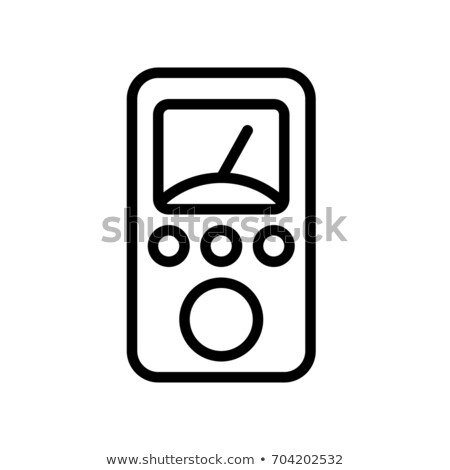 Display of the device for electricity measurement Stock photo © vavlt