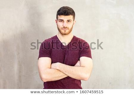 difícil · cara · machado · retrato · homem - foto stock © arenacreative