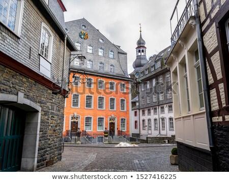 古い 住宅 タウン ドイツ ウィンドウ アーキテクチャ ストックフォト © aladin66